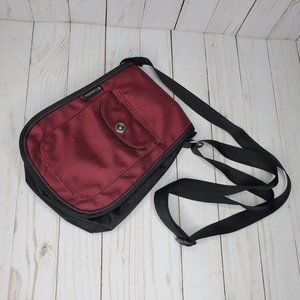 Columbia Red Nylon Crossbody Bag